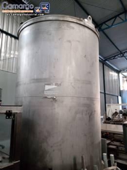 Tanque de acero inoxidable para 5000 L